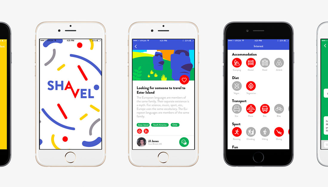 Shavel app on Behance