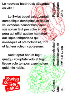 Swiss bagel salad on Behance
