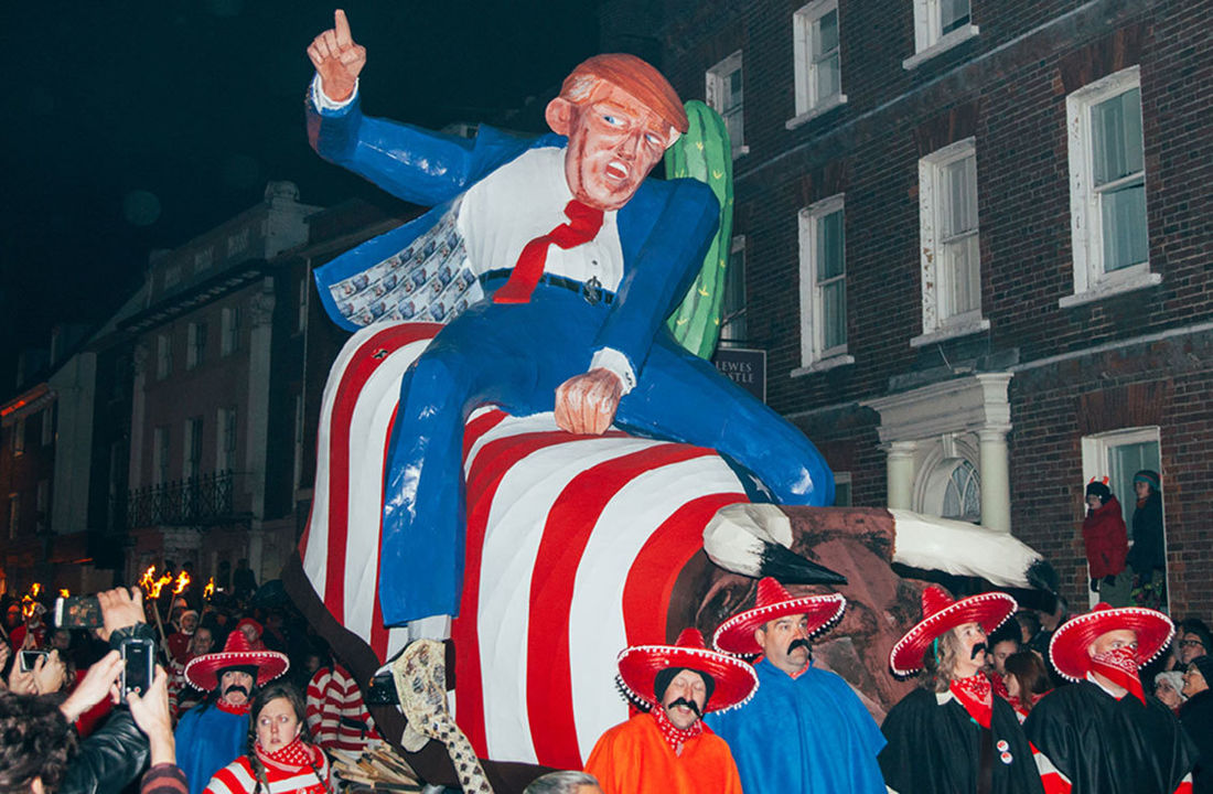 It's Nice That  Donald Trump, flaming crosses and smuggler uniforms: the strange sights of Lewes Bonfire