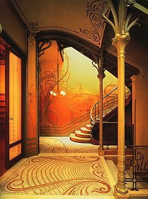 Flickr Photo Download: art nouveau.victor horta.tassel house.brussels.staircase 2nd view