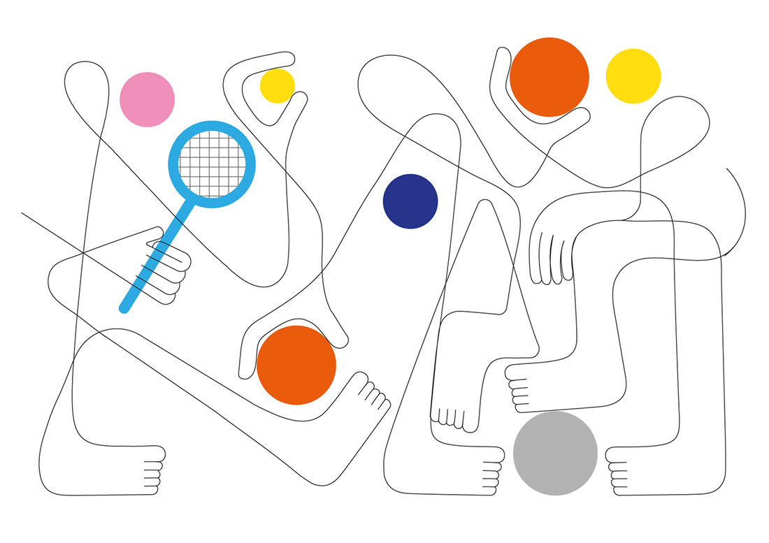 two points and a line. various illustration 2016 on Behance