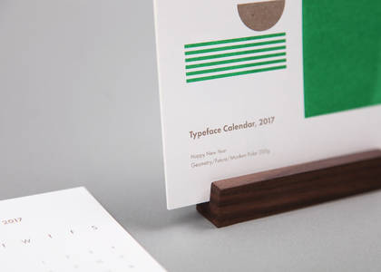 Typeface Calendar, 2017 on Behance
