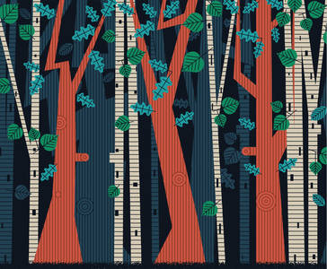 Forest Curtain Backdrop on Behance