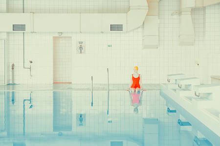 It's Nice That  Mária Švarbová's calm and surreal images of bathers at a Slovakian swimming pool