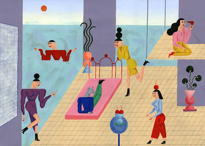 It's Nice That  Illustrator Stefhany Lozano's childhood-inspired, futuristic pastel paintings