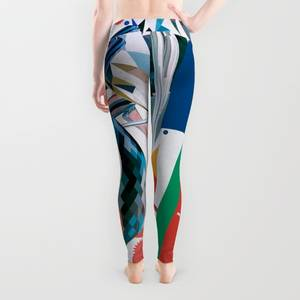 The Red & Blue Overlords Leggings by Michael Paul Young  Society6