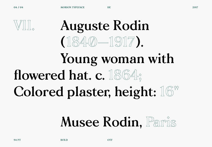 It's Nice That  After three years of work, The Designers Foundry releases the final version of its Morion typeface