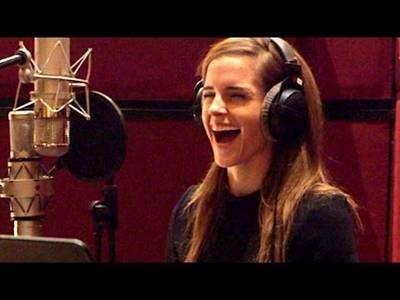 BEAUTYANDTHEBEASTB-roll-VoiceCastRecording(2017)EmmaWatsonDisneyMovieHD