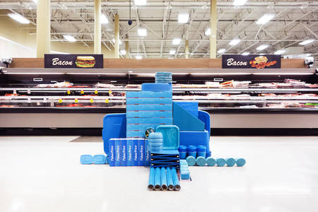 Rogue Installations of Similarly Colored Objects Inside Big-Box Stores by Carson Davis Brown  Colossal