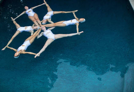 The Swimmers by Emma Hartvig, synchronized swimming at its best.