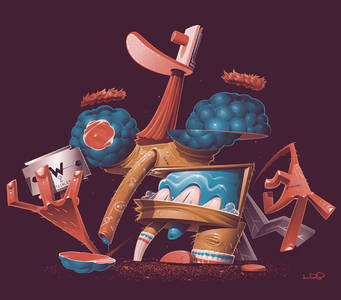 crooked&humpy-Illustrations2017onBehance