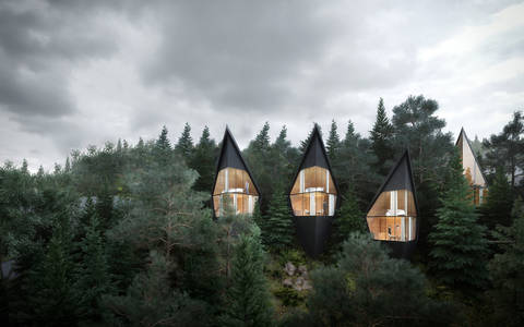 Architect Designs Sustainable Futuristic Tree Houses In Italian Forest