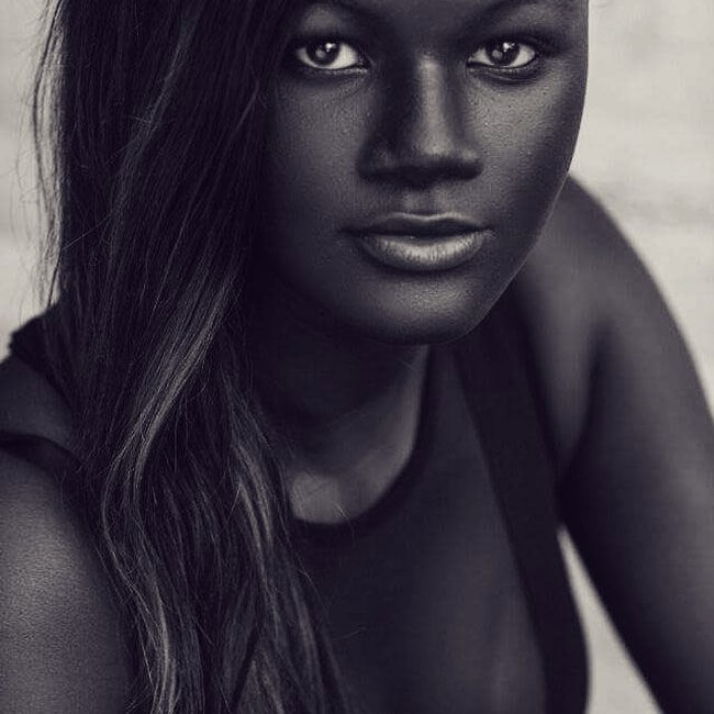 Meet Khoudia Diop, Stunning Charcoal Black African Model