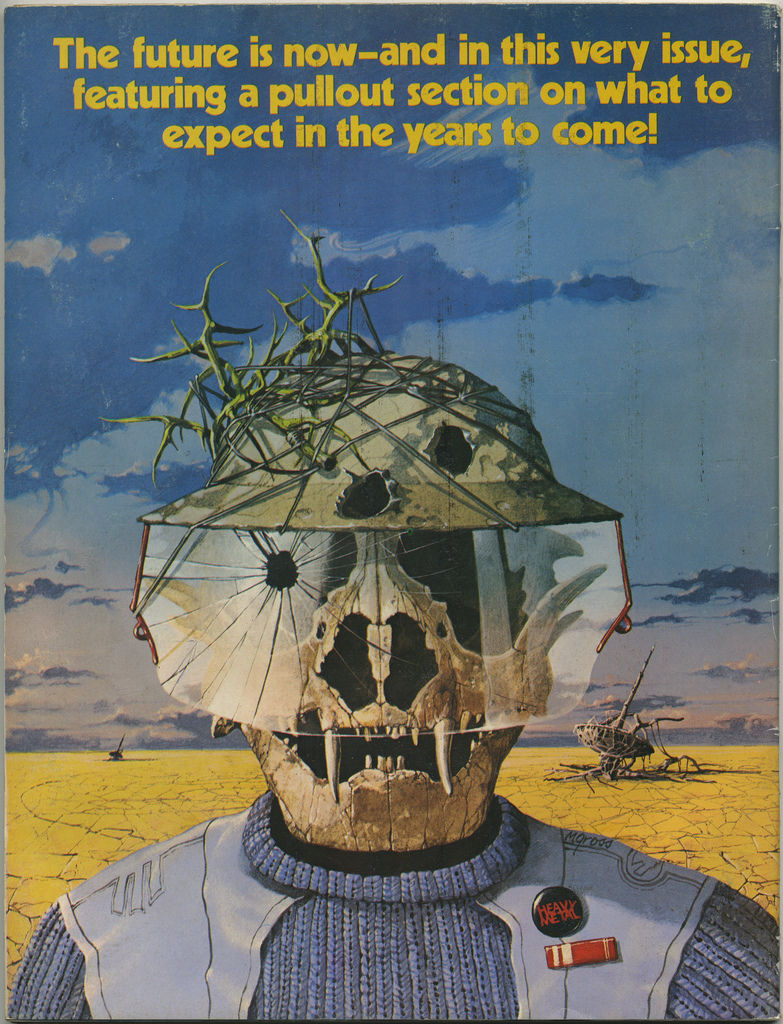 Flickr Photo Download: Heavy Metal Magazine, January 1982, Back Cover