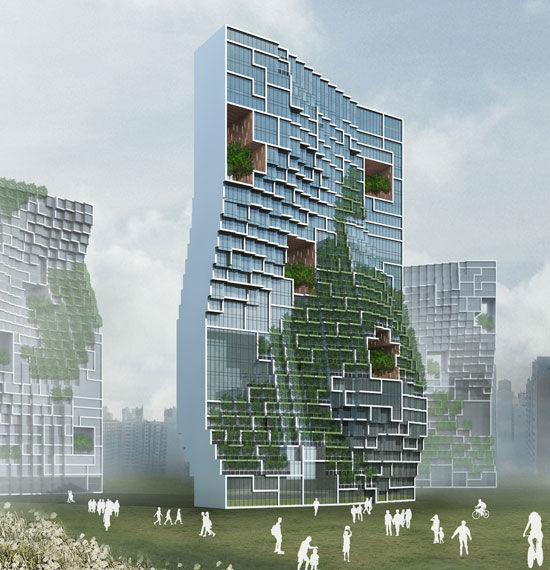 unsangdong architects: dancing apartment, south korea